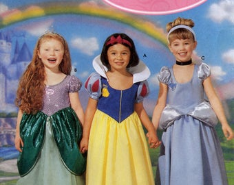 Simplicity 5832 Disney Princess Easy to Sew Sewing Pattern for Girls Princess Costumes - Uncut - Sizes 3, 4, 5, 6, 7, 8