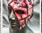 Leather half mask  - Flayed -