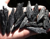 Black Kyanite Blade - rough black kyanite, raw crystal, crystal healing, Reiki