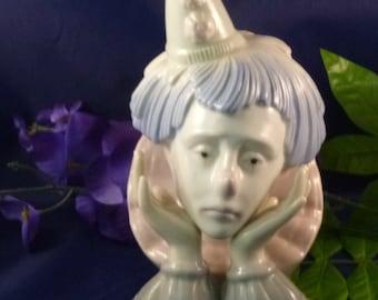 Dreams Vintage Porcelain Clown Head Figurine by Paul Sebastian, 1980s