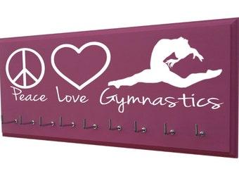 Gymnastics medal holder, gymnastics ribbon holder, Gymnastics gifts, Gymnastics ribbon, gymnastics ribbons, Gymnastics awards, award holder