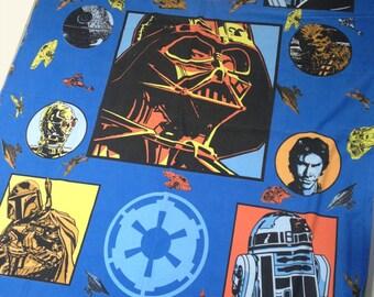 vintage STAR WARS bedding single twin duvet & pillowcase Han Solo Princess Leia Chewbacca