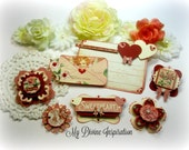 Graphic 45 Time to Flourish February Handmade Scrapbook, Paper Embellishments for Scrapbooking Cards Mini Albums Tags Paper Crafts
