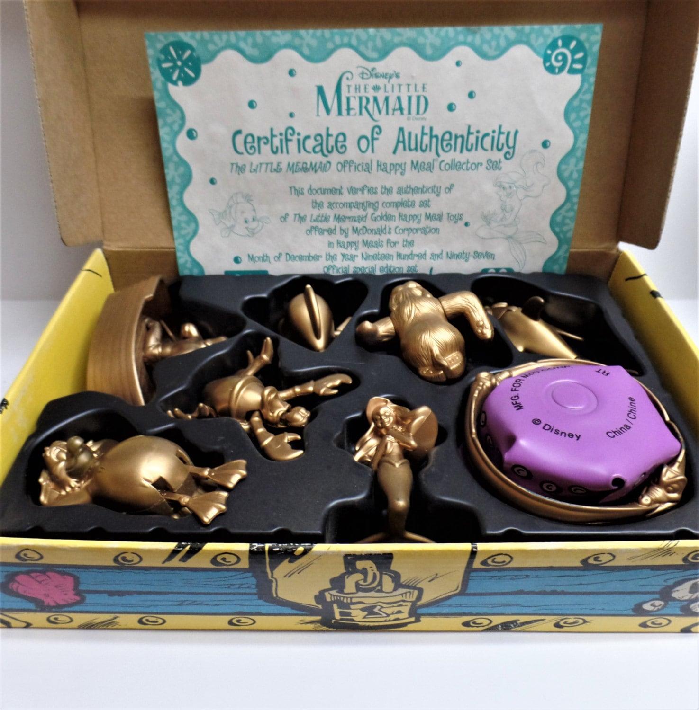 The Little Mermaid Golden Toy Set Disney Collectible Mcdonalds