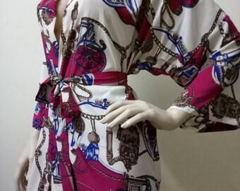 SALE Floral Bridesmaid Robes, wedding robes, bridesmaid silk robe, gown, personalized silk robe, kimono robes, floral robe, bridal robe