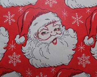 1 Sheet Vintage Santa Claus Snowflakes Christmas Gift Wrap Wrapping Paper