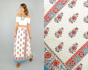 70's Bohemian Maxi Skirt