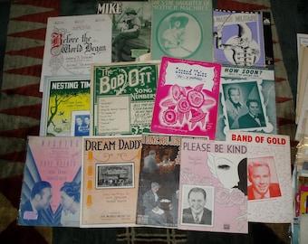 Lot of 90+ Sheet Music