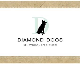 Custom Logo Design - PreDesigned Logo PreMade Logo - Vector Logo Design - OOAK Logo - DIAMOND DOGS Logo Design - Brand Design - Dog Logo