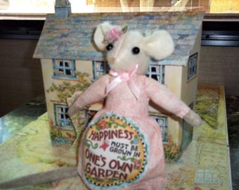 OOAK Happiness Is Mouse Doll