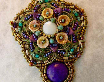 Filigree Pendnat KIT Purple and Blue