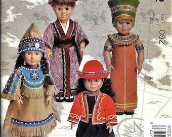 """McCall's Crafts Pattern NEW MP262 / M6670 Clothes 18"""" American Girl Doll Linda Carr Peru Japan"""