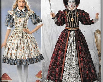 Simplicity 2325 / 0411 Queen of Hearts Alice In Wonderland Dress Renaissance Costumes Pattern UNCUT Size 14, 16, 18, 20, 22
