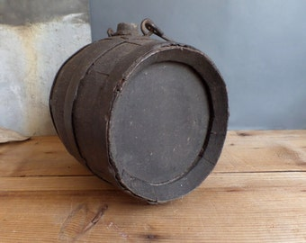 Antique FRENCH wooden wine cask  Small barrel