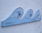 wood wave nautical art