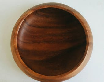 Large Wooden Serving Bowl - Mid Century Modern Farmhouse Kitchen Decor - Large Wood Bowl