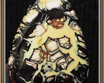 Boulder Opal  Koroit Yowah cabochon, triangle, two sided,28x21x8 mm, 49.92 cts.