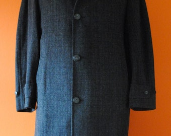 1950s Wool Overcoat sz M-L