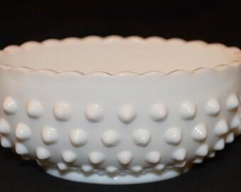 Fenton Milk Glass Handled Oval Bowl-Sugar Bowl-Candy Dish