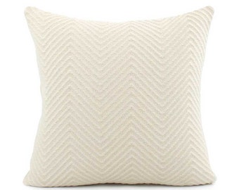 Cream Chevron Knit Pillow Cover, Choose Your Size, Cream Pillow, Throw Pillow, Accent Pillow, Toss Pillow, Cushion, Streamline Infinity