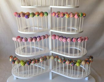 Custom Made Multi Tier Infinity Symbol Cake Pop Stand.  Holds 280 Cake Pops.