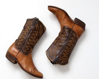Nocona cowboy boots, men's 10.5, vintage leather western boots
