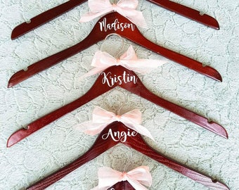Personalized Bridal Party Hangers (Set of 5)