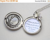 ON SALE Personalized I'll Love you forever I'll like you for always Locket ,Locket Necklace,Mother's Day,Necklace,Bird,Wedding Necklace