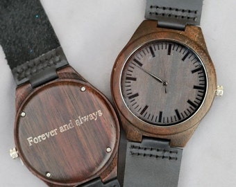 ON SALE Wood Watch,Personalized Wooden Watch, Groomsmen Gifts, Mens Birthday Gifts, Wedding Gifts, Anniversary Gifts, Father's Day Gifts