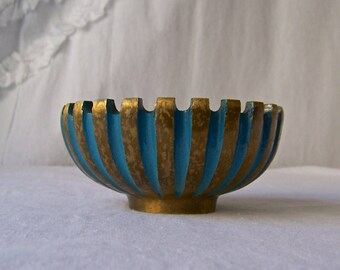 Vintage Brass Ashtray Modernism Theme Pal Bell Ashtray Israel Vintage 1950s