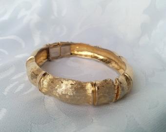 Vintage Napier Gold Tone Cuff Bracelet