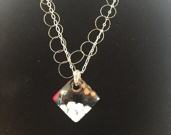 Venetian Glass pendant necklace.