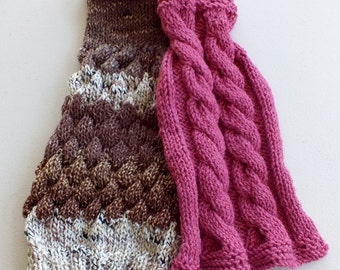 """SPECIAL SALE Two hand knit dog sweaters for the price of one 15"""" long Wool"""