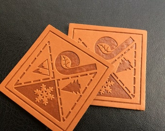 200 Custom leather tag, Custom leather labels, Faux leather patch