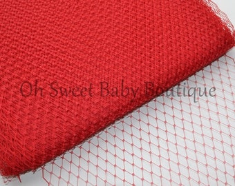 Red Russian Veil Bird Cage Netting *Clearance*
