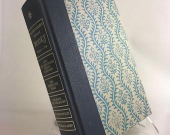 Book Letter Handmade Vintage Condensed Readers Digest Upcycled Light Blue C0090