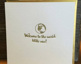 Welcome to the worldlittle one! Baby card
