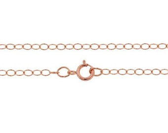 "Cable Chain W / Spring Ring Clasp 20"" 14Kt Rose Gold Filled 2.8x2mm - 1pc High Quality  Chain (11010)/1"