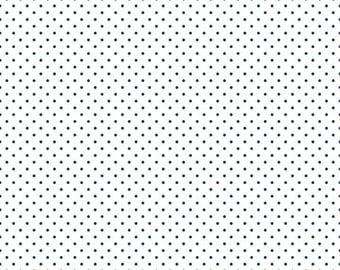 Swiss Dot Navy Dot On White Riley Blake 1 Yard