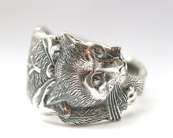 RARE, Antique KITTY Cat Ring, 1900