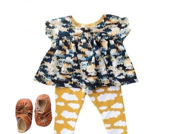 Baby girl easter dress  Toddler Easter dress Hipster kids Clothes Baby dress Baby leggings baby girl clothes Organic baby clothes