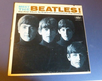 MEET THE BEATLES Vinyl Record Lp  T2047  1964