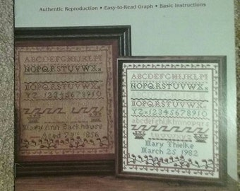Mary Ann Backhouse Sampler, Counted Cross Stitch, Authentic Reproduction, Easy to Read Graph, Pattern Leaflet, Vintage 1983