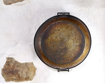 12.75 inch Pan skillet FRENCH double handled Paella kitchen decor LARGE