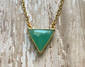 Gorgeous aqua chalcedony necklace