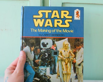 Vintage 1980s Star Wars Making The Movie Book.....collectible. kids. classic. yoda. darth vader. chewbacca. luke skywalker. collection.