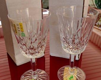 Vintage WATERFORD Crystal Wine Glasses set