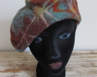 Felted Beret Hat Made in Kyrgyzstan