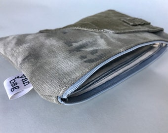 8-49 - reconstructed vintage us mail bag small pouch