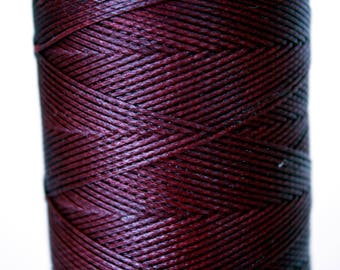 Macrame cord, waxed polyester cord, eggplant colored, 0.8 mm. flat braid, jewelry making friendship bracelet